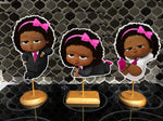 Boss Baby Dark skinned pink girl centerpieces
