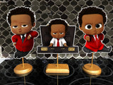 Red Boss Baby African American Centerpieces