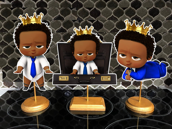 Prince Boss Baby Dark Skinned Centerpieces King