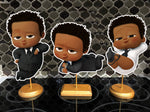 African American Boss Baby Birthday Centerpieces