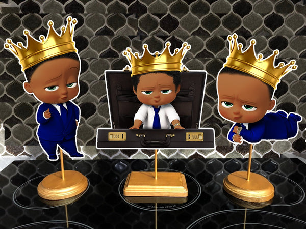 King Boss Baby Dark Skinned Centerpieces