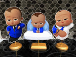 Bold Afro American Blue Boss Baby Centerpieces