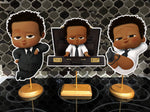 African American Boss Baby Dark Skinned Birthday Centerpieces