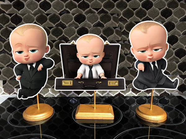 The Boss Baby Birthday Party Centerpieces