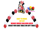 Red Minnie Mouse Birthday Balloon Arch