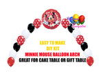 Red Minnie Mouse Birthday Balloon Arch, Cake Table, Gift Table, DIY KIT Party Supplies