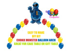 Cookie Monster Balloon Arch
