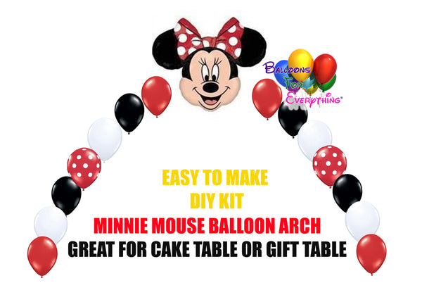 Red Minnie Mouse Balloon Arch DIY Kit
