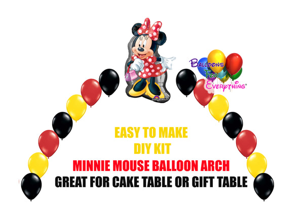 Disney Red Minnie Mouse Birthday Balloons