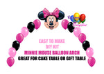 Hot Pink Minnie Mouse Party Balloon Arch