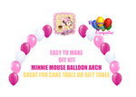 Baby Minnie 1st Birthday Balloon Arch