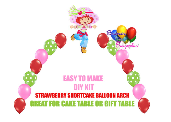 Classic Strawberry Shortcake Balloon Arch DIY Kit
