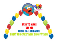 Elmo Birthday Balloon Arch, Sesame Street Cake Table, Gift Table, DIY KIT Party Supplies