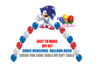 Sonic the Hedgehog Balloon Arch Party Decorations, Cake Table Gift Table, DIY KIT Party Supplies