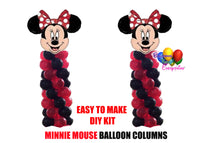 Disney Red Minnie Mouse Birthday Balloon Columns, Cake Table, Gift Table, DIY KIT Party Supplies