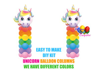 Unicorn Birthday Balloon Columns