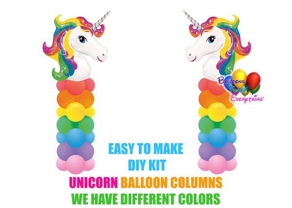 Unicorn Rainbow Balloon Columns