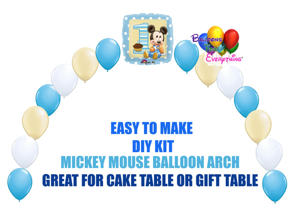 Baby Mickey Mouse 1st Birthday Balloon Arch