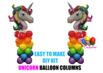 Unicorn Rainbow Birthday Balloon Columns, Cake Table, Gift Table, DIY KIT Party Supplies