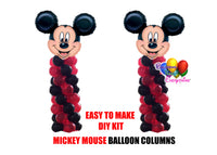 Disney Mickey Mouse Birthday Balloon Columns, Cake Table, Gift Table, DIY KIT Party Supplies