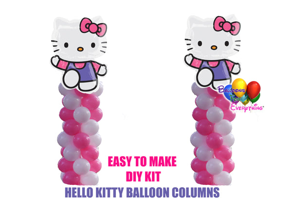 Hello Kitty Birthday Balloon Columns
