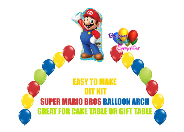 Super Mario Brothers Balloon Arch Party Decorations