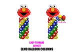 Elmo Birthday Balloon Columns, Sesame Street Cake Table, Gift Table, DIY KIT Party Supplies