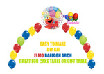 Elmo Balloon Arch, Sesame Street Cake Table, Gift Table, DIY KIT Party Supplies