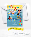 Mickey and Pals Pool Party Birthday Invitations