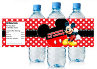 Disney Mickey Mouse Birthday Water Bottle Labels