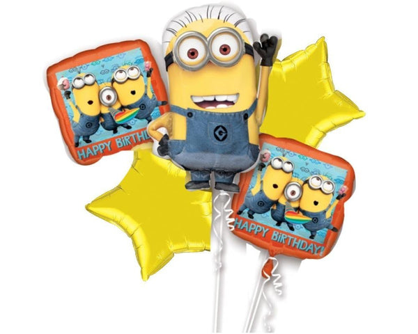 Despicable Me Minions Birthday Balloon Bouquet