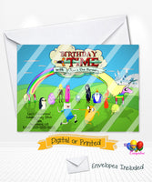 Adventure Time Birthday Invitations