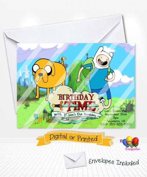 Adventure Time Birthday Party Invitations