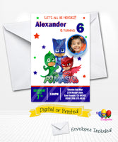 PJ Masks Birthday Invitations