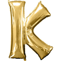Giant Gold Letter K Balloon