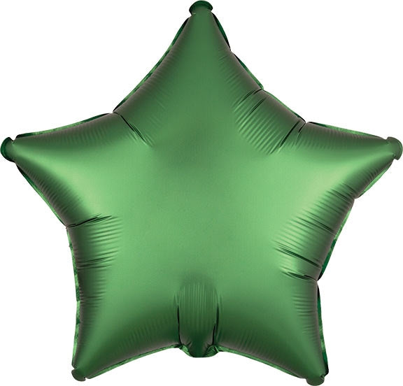 Emerald Green Satin Star Balloon