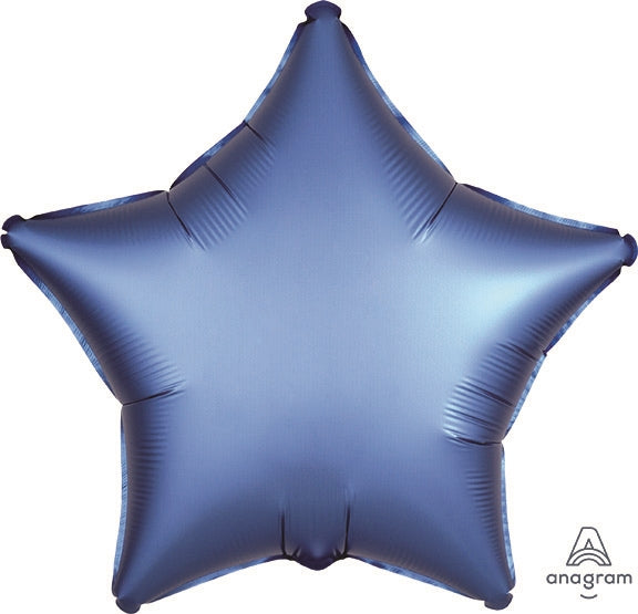 Azure Blue Satin Star Balloon