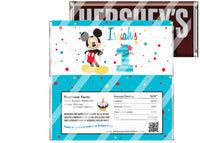 New Mickey Mouse 1st Birthday Candy Bar Wrapper