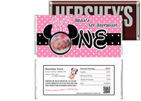 Baby Minnie 1st Birthday Candy Bar Wrappers