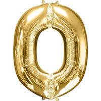 Giant Gold Letter O Balloon