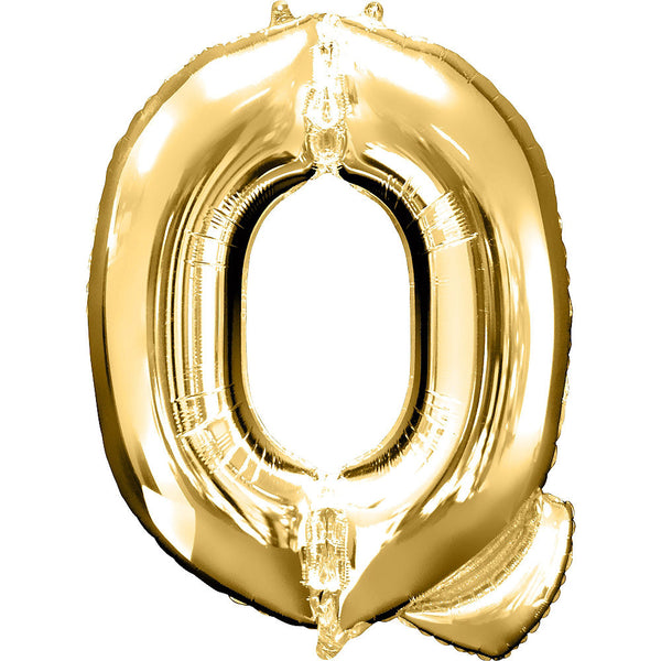 Giant Gold Letter Q Balloon
