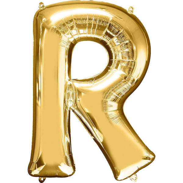 Giant Gold Letter R Balloon