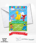 Elmo Sesame Street Birthday Invitations
