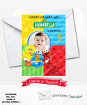baby sesame street birthday invitations