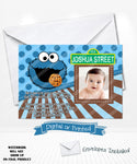 Cookie Monster Birthday Chalkboard Invitations