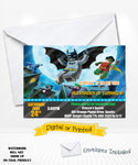 Lego Batman Movie Birthday Invitations