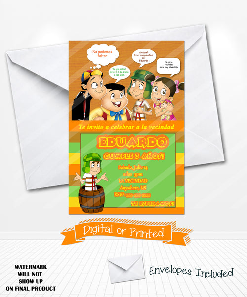 El chavo del 8 birthday invitations