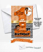 Boss Baby Halloween Birthday Party Invitations