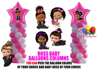 Boss Baby Shower Girl Balloon Columns