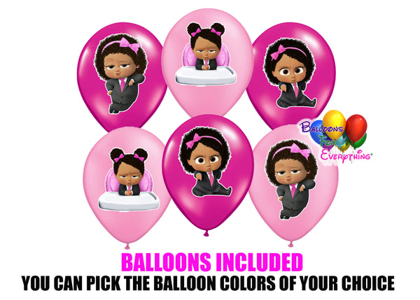Baby Boss Light Skinned Party Balloons